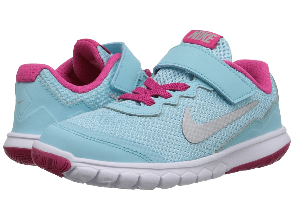 Nike Kids - Flex Experience 4 (Little Kid) (Copa/Vivid Pink/White/Metallic Silver) Girls Shoes