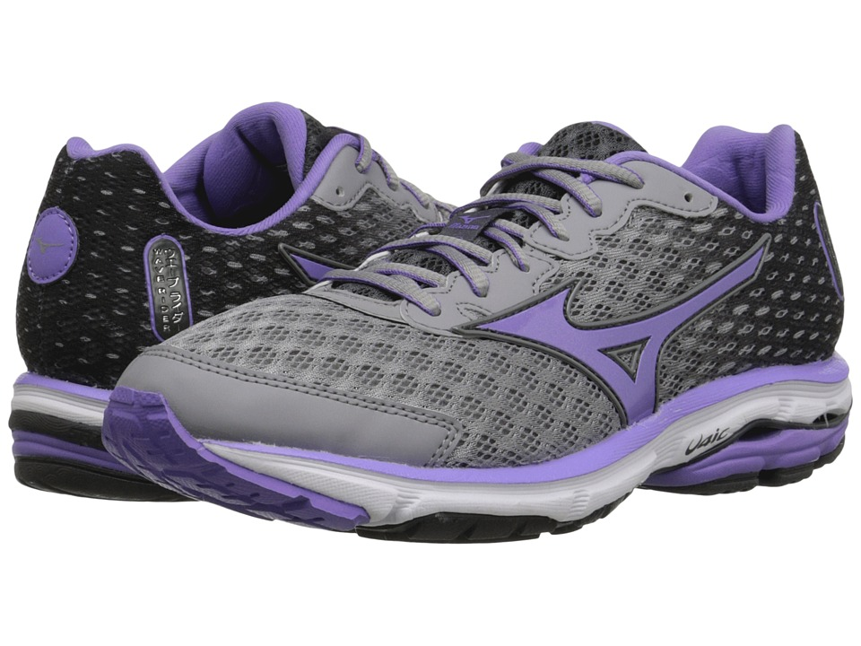 Mizuno - Wave Rider 18 (Alloy/Dahlia Purple/Dark Shadow) Women's Shoes