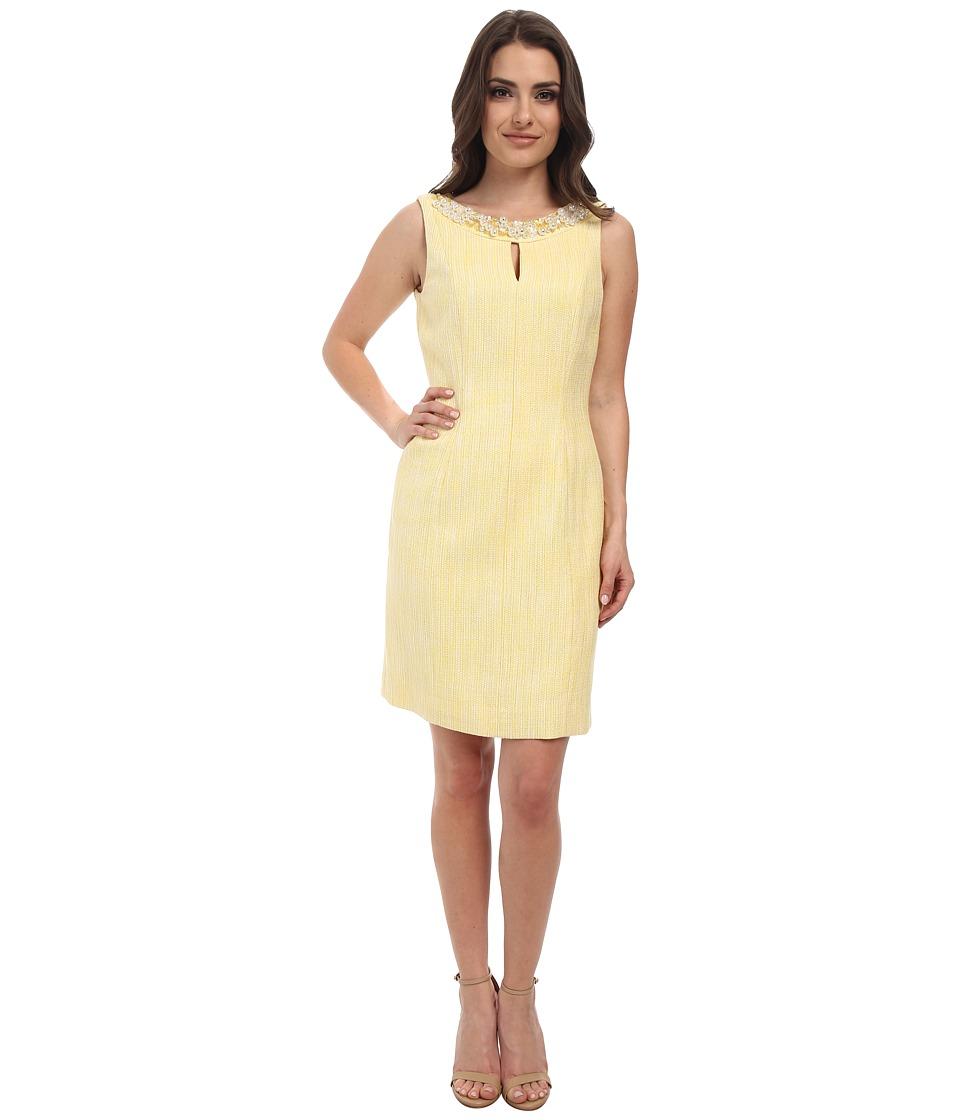 Tahari by ASL Petite Petite Miller Dress (White/Sunshine) Women