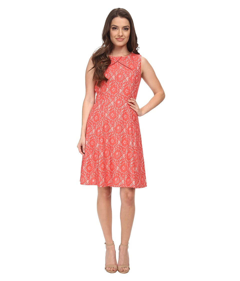 Tahari by ASL Petite - Petite Terence Dress (Nude/Tangerine) Women's Dress