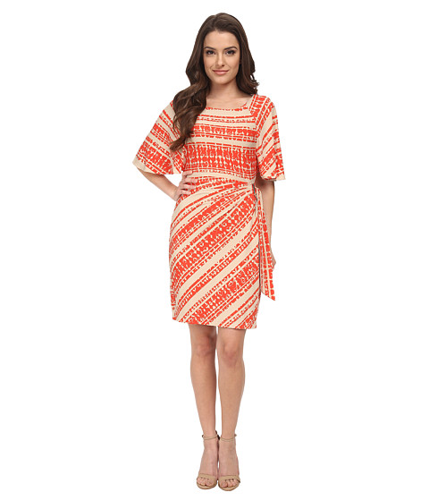 Tahari by ASL Petite - Petite Issac Dress (Khaki/Tangerine) Women's Dress