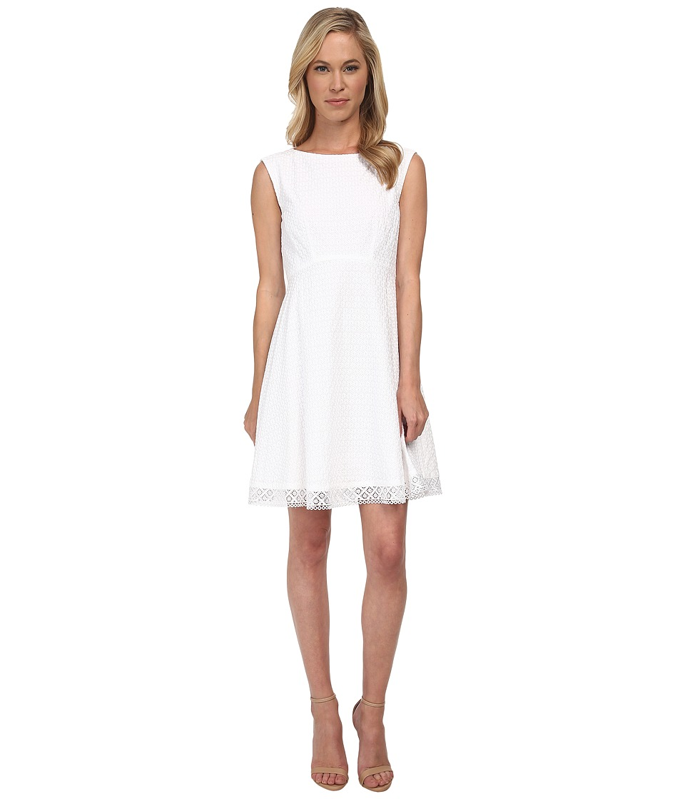Tahari by ASL Petite - Petite Gary Dress (White) Women