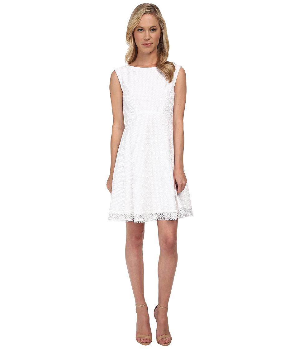 Tahari by ASL Petite - Petite Gary Dress (White) Women's Dress