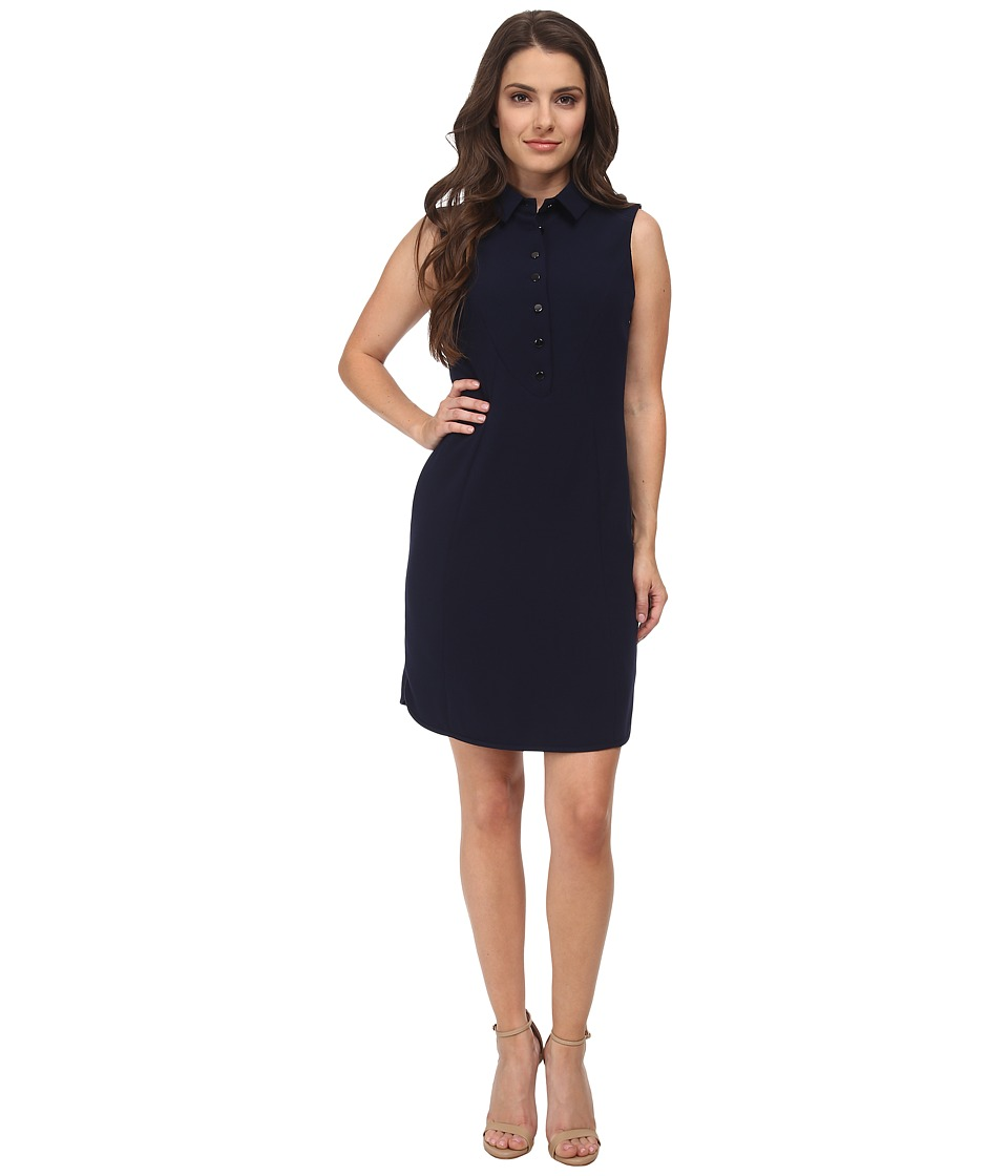 Tahari by ASL Petite - Petite Kristin Dress (Navy) Women's Dress