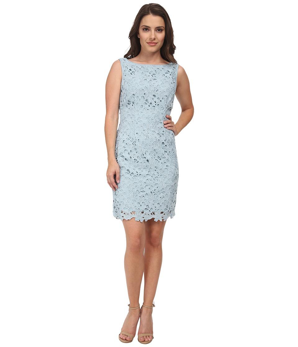 Tahari by ASL Petite Petite Arlene Dress (Sky Blue) Women