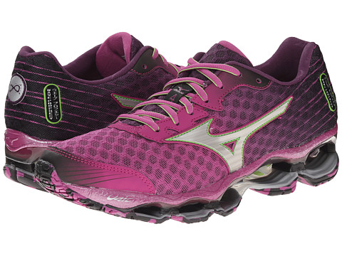 Mizuno - Wave Prophecy 4 (Wild Aster/Silver/Greenery) Women