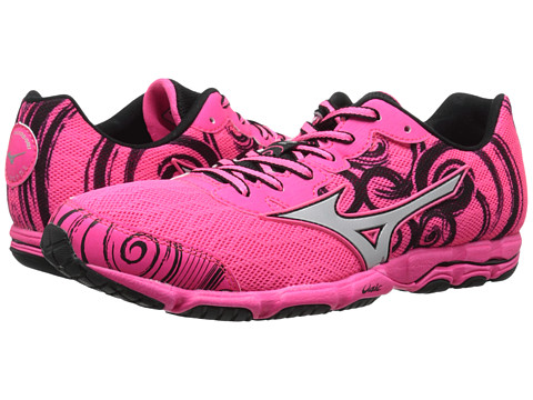 Mizuno - Wave Hitogami 2 (Neon Pink/Silver/Black) Women's Shoes