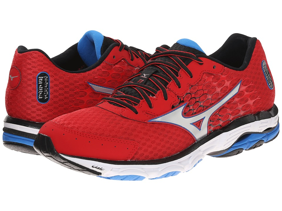Mizuno - Wave Inspire 11 (Shin Red/Silver/Black) Men's Shoes