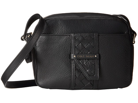 Cole Haan - Samantha Top Zip Crossbody (Black) Cross Body Handbags
