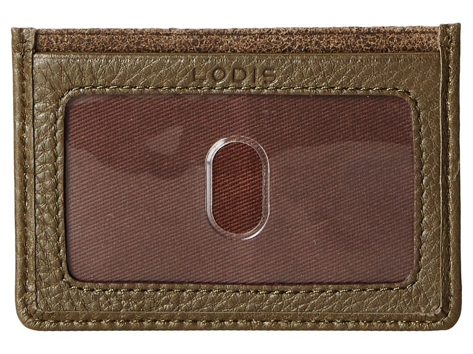 Lodis Accessories - Trevor Mini ID Card Case (Olive) Credit card Wallet