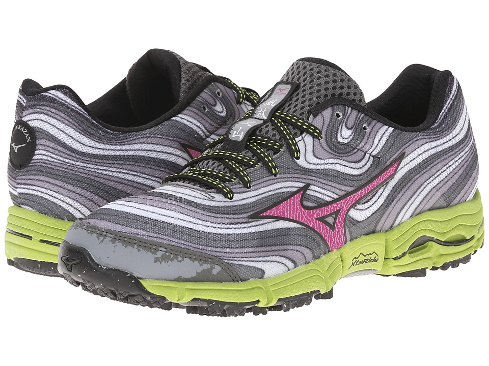 Mizuno - Wave Kazan (Alloy/Wild Aster/Greenery) Women's Running Shoes