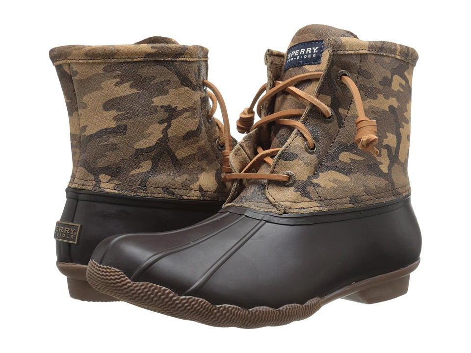 Sperry Top-Sider - Saltwater Novelty (Brown Camo) Women's Rain Boots