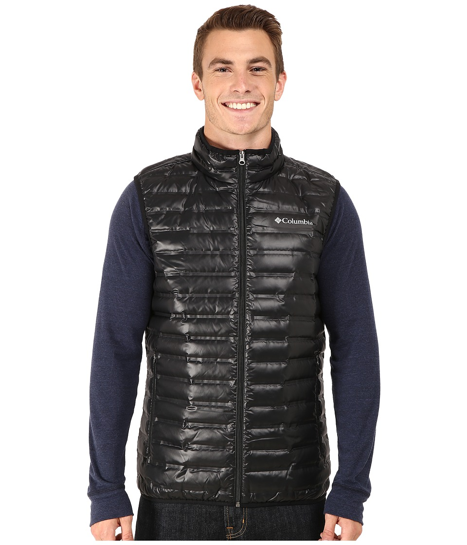 Columbia - Flash Forward Down Vest (Black/Hyper Blue) Men's Vest