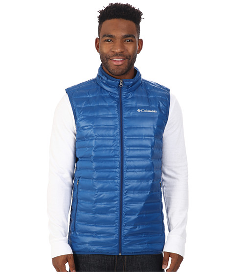 Columbia - Flash Forward Down Vest (Marine Blue) Men's Vest