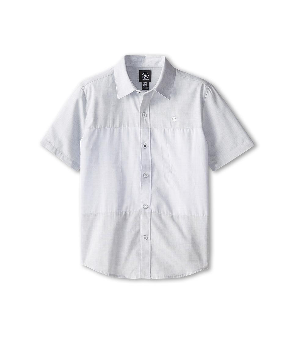 Volcom Kids - Amherst Short Sleeve Shirt (Big Kids) (Matured Blue) Boy's Short Sleeve Button Up