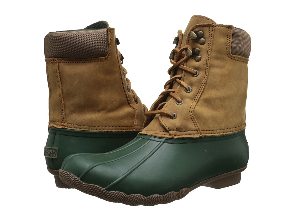 Sperry - Shearwater (Green/Tan) Women's Rain Boots