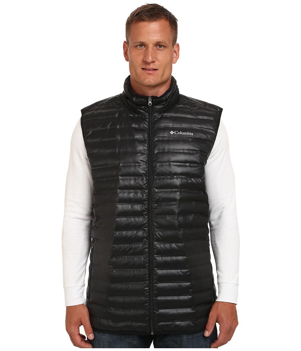 Columbia - Big Tall Flash Forward Down Vest (Black/Hyper Blue) Men's Vest