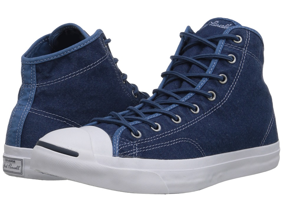Converse Jack Purcell Jack Mid (Navy/Navy/White) Lace up casual Shoes