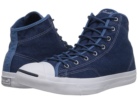 Converse - Jack Purcell Jack Mid (Navy/Navy/White) Lace up casual Shoes
