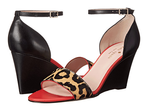 Kate Spade New York - Amanda (Desert/Black Leopard Print Haircalf/Maraschino Red Nappa) Women