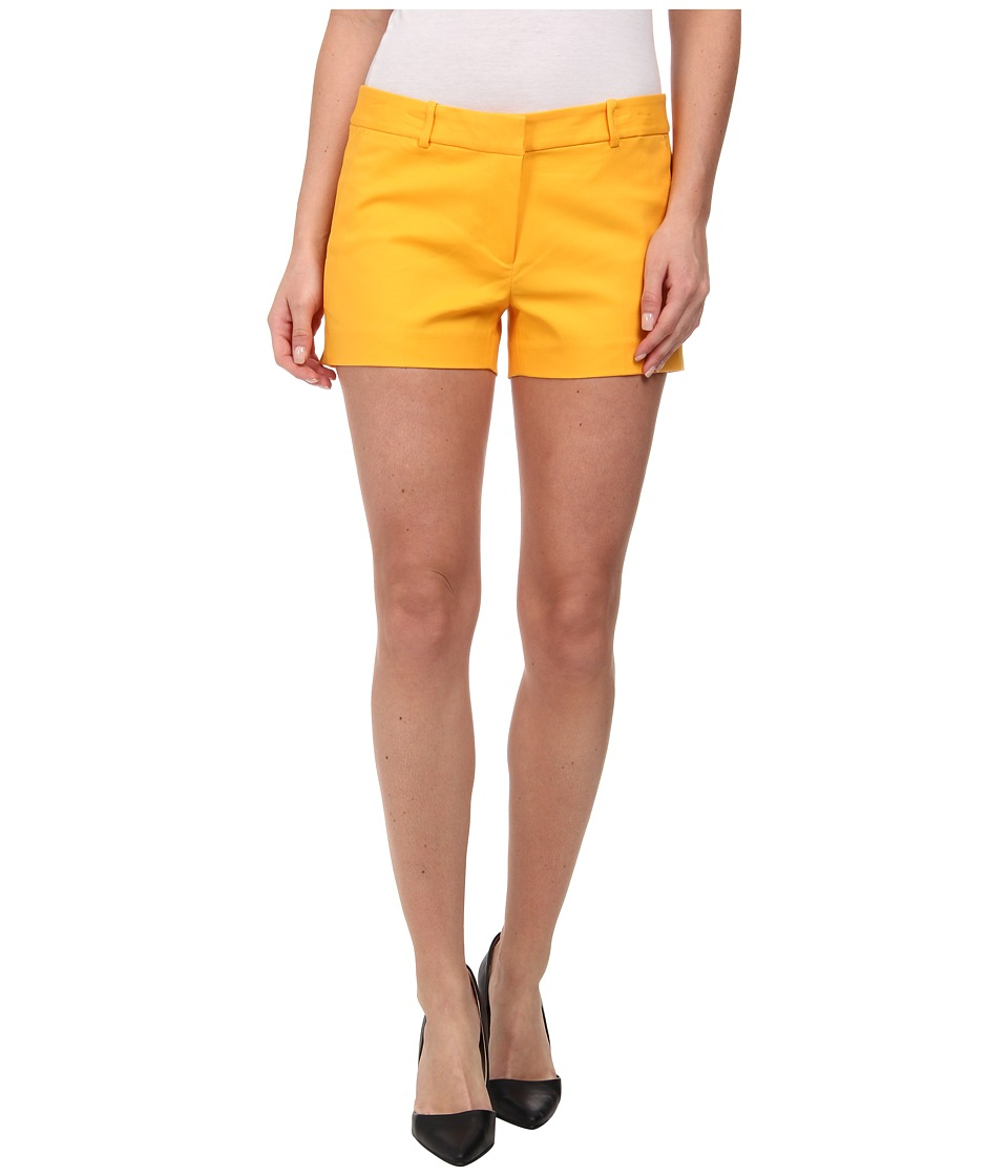 MICHAEL Michael Kors - Stretch Cotton Clean Min Shorts (Taxi Yellow) Women's Shorts