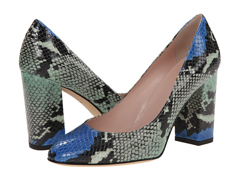 Kate Spade New York - Dalita (Blue Multi Painted Snake Printed Leather) Women's Shoes