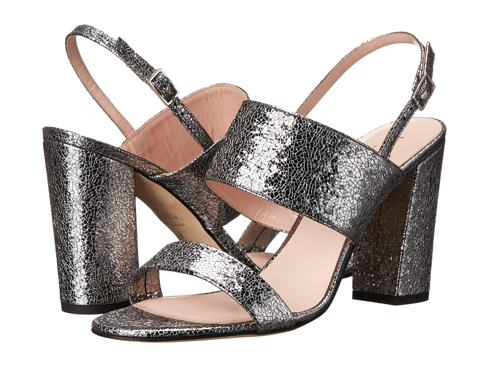 Kate Spade New York - Irvine (Aluminum Crackle Metallic Leather) Women's Dress Sandals