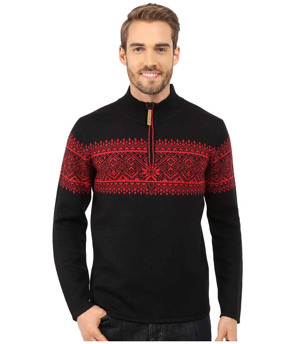 Obermeyer - Hemsedal 1/4 Zip Sweater (Black) Men's Sweater