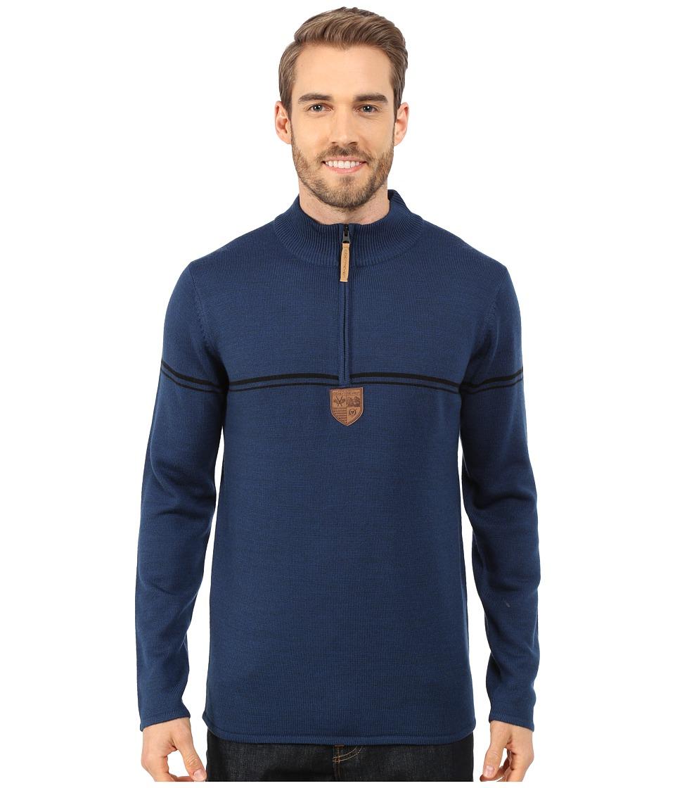Obermeyer - Zurich 1/2 Zip Sweater (Eclipse) Men