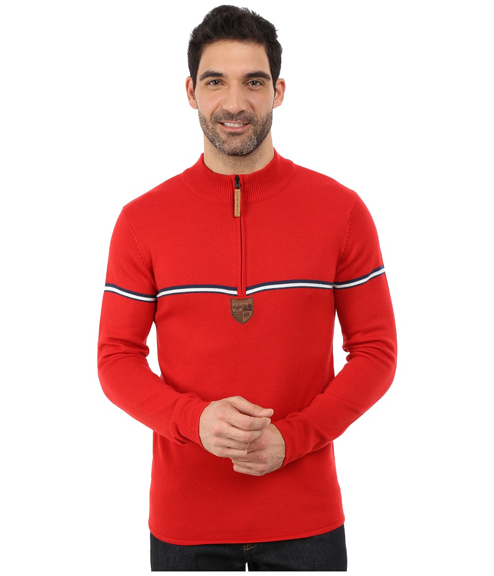 Obermeyer - Zurich 1/2 Zip Sweater (True Red) Men's Sweater