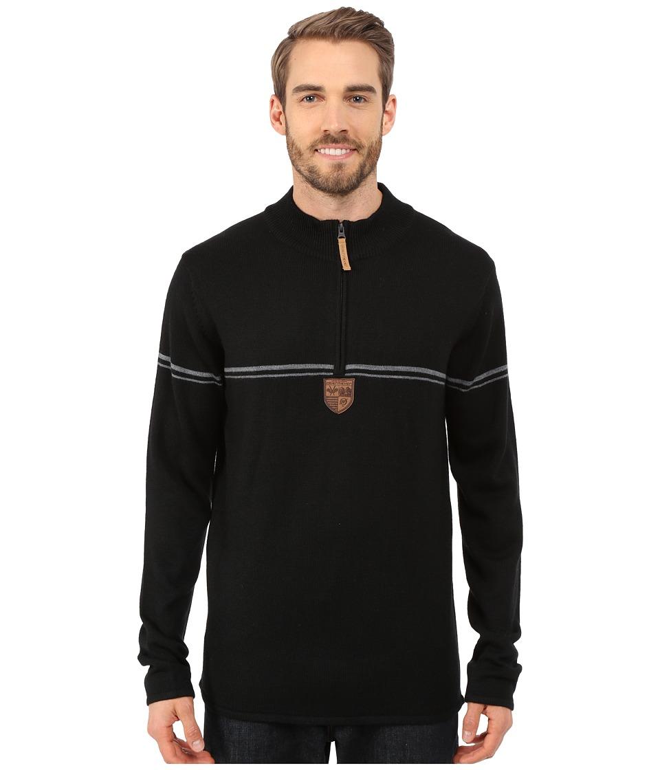 Obermeyer - Zurich 1/2 Zip Sweater (Black) Men's Sweater