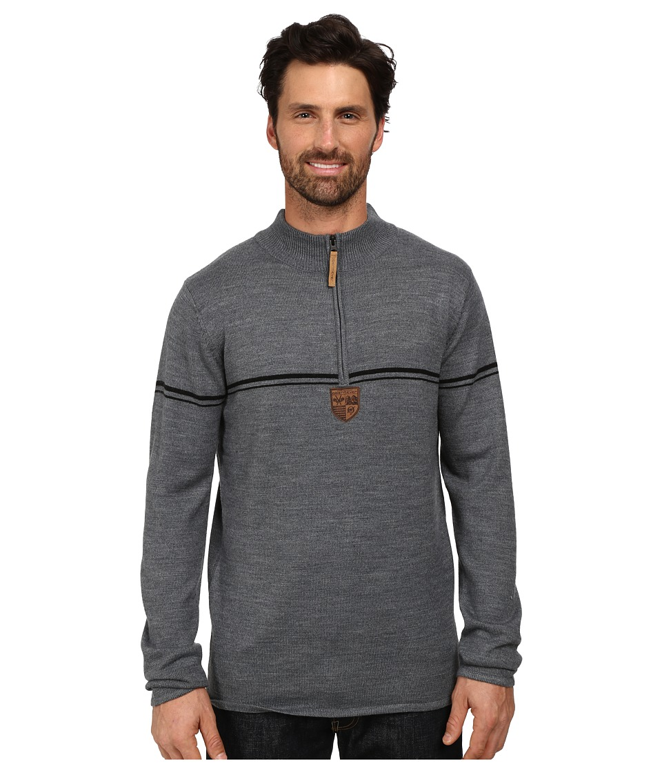 Obermeyer - Zurich 1/2 Zip Sweater (Heather Grey) Men's Sweater