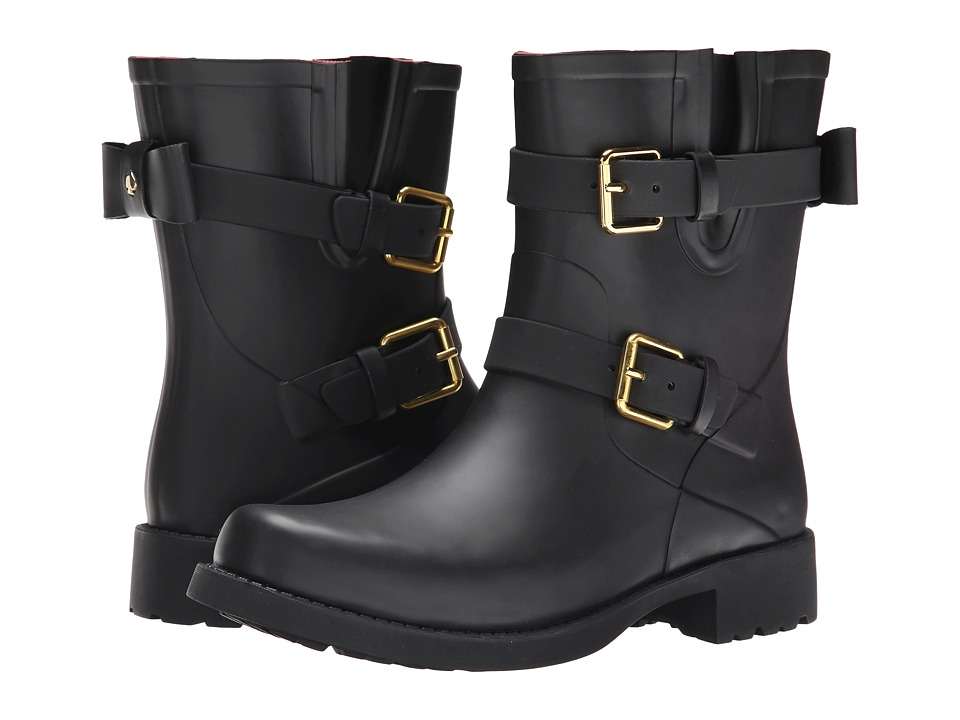 Kate Spade New York - Pamela (Black Matte Rubber) Women's Boots