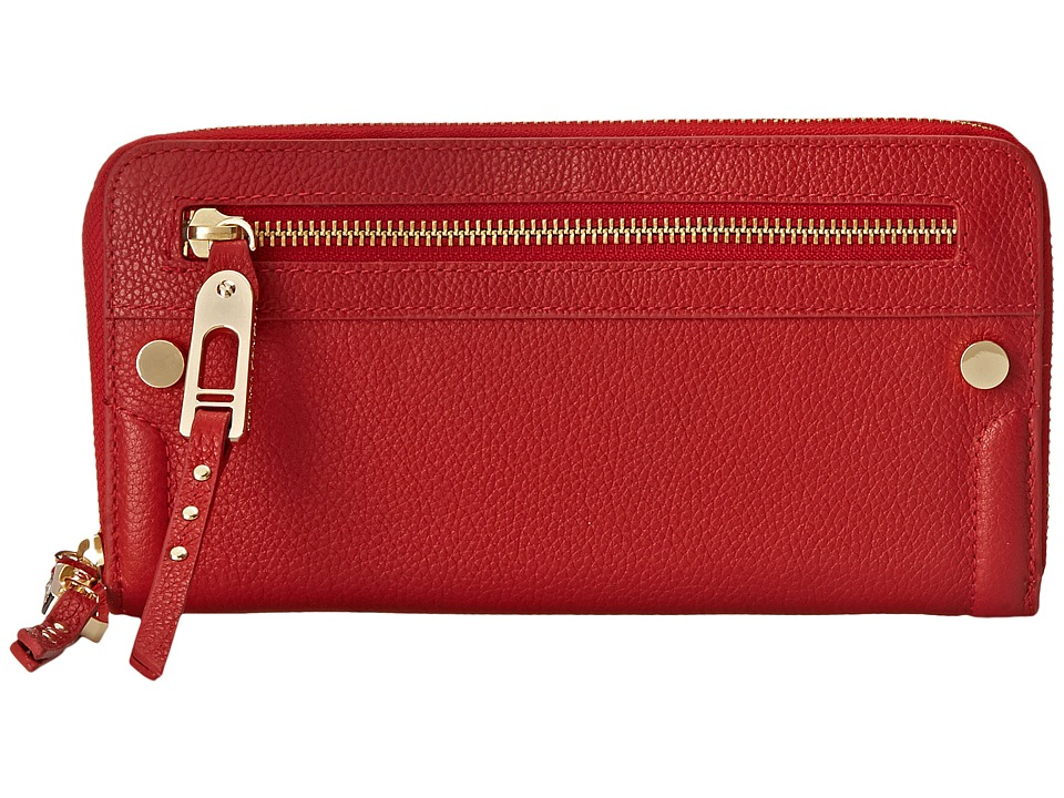 Ivanka Trump - Charlotte Zip Around Organizer (Lipstick Pebble) Handbags