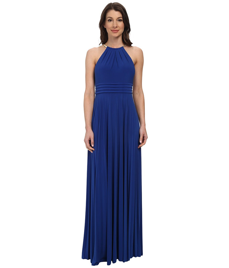 Eliza J - Necklace Maxi In Cobalt Jersey (Cobalt) Women's Dress
