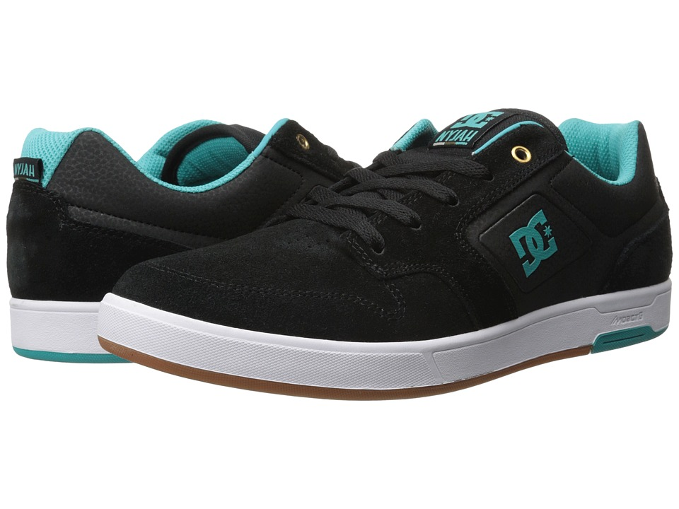 DC - Nyjah (Black/Seafoam) Men's Shoes