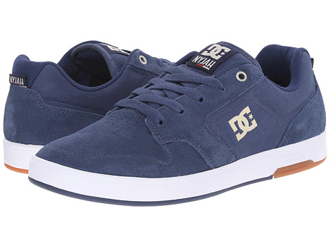 DC - Nyjah (Navy/Camel) Men's Shoes