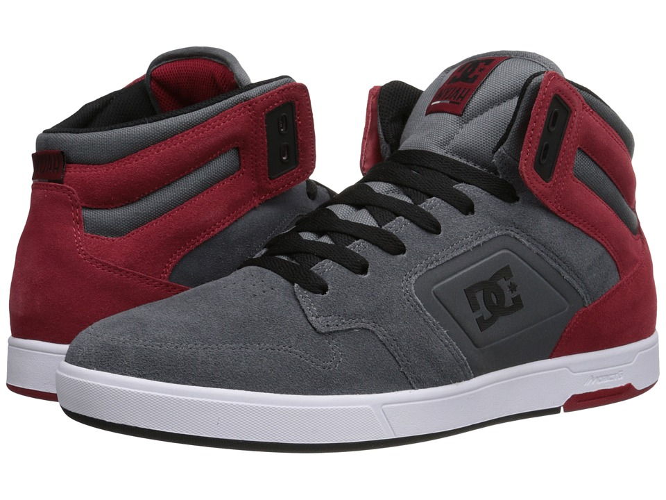 DC - Nyjah HI SE (Grey/Dark Red) Men's Skate Shoes