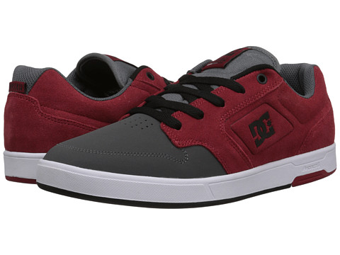 DC - Nyjah SE (Grey/Dark Red) Men's Skate Shoes