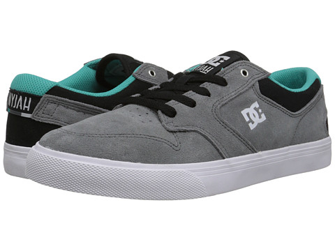 DC - Nyjah Vulc (Grey/Black/Green) Men's Skate Shoes