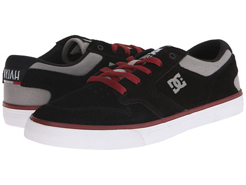 DC - Nyjah Vulc (Black/Grey/Red) Men's Skate Shoes