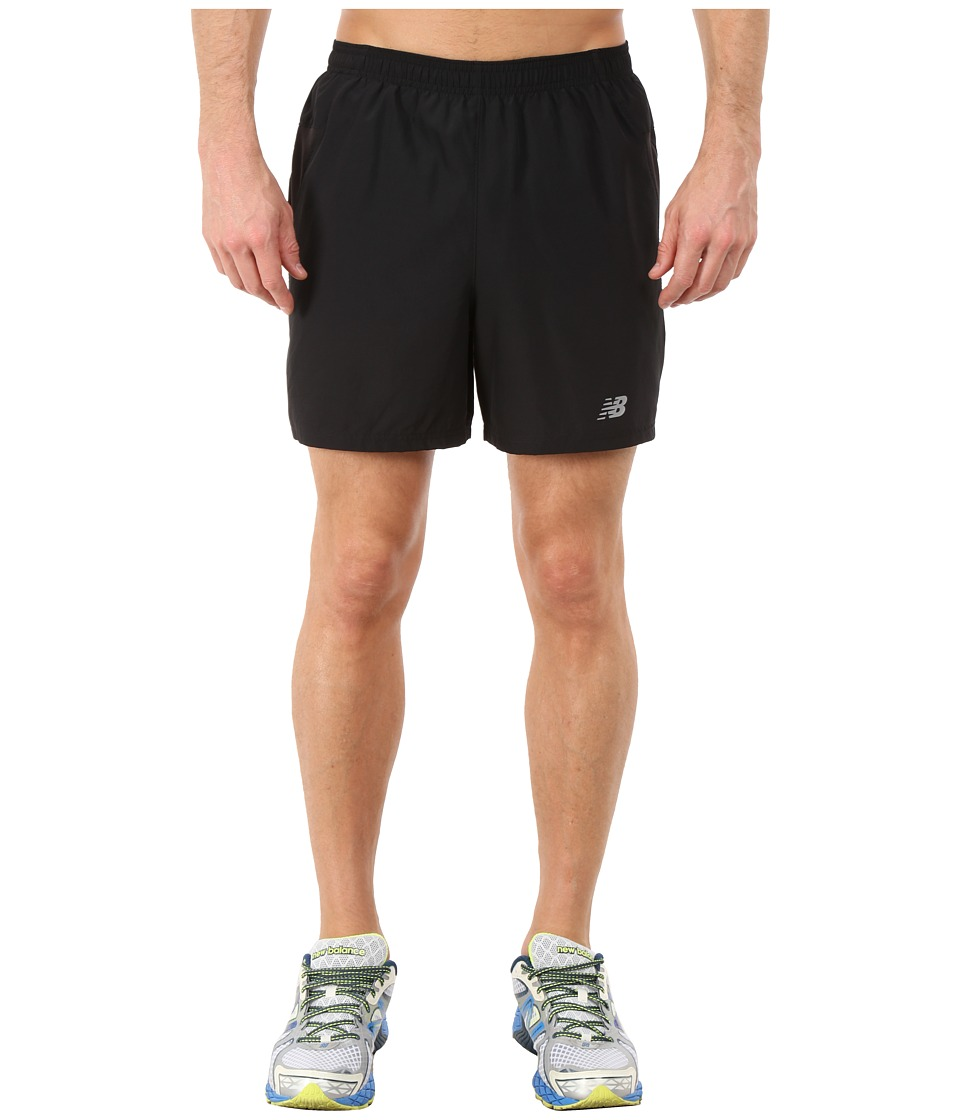 New Balance - Woven Run Shorts (Black) Men's Shorts