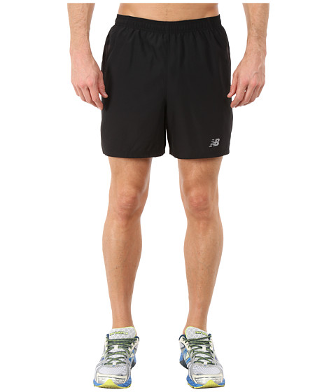 New Balance - Woven Run Shorts (Black) Men