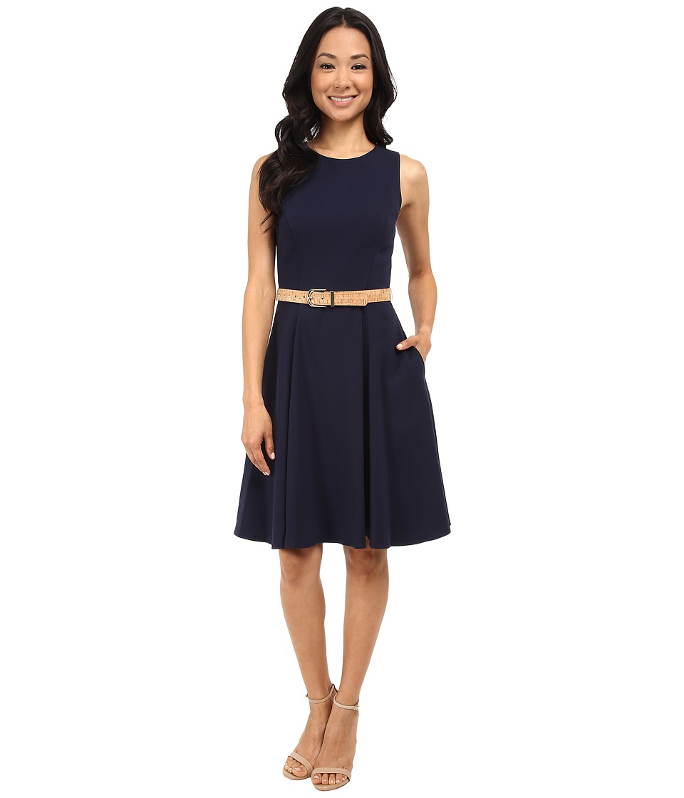 Eliza J - Sleeveless Fit and Flare (Navy) Women's Dress