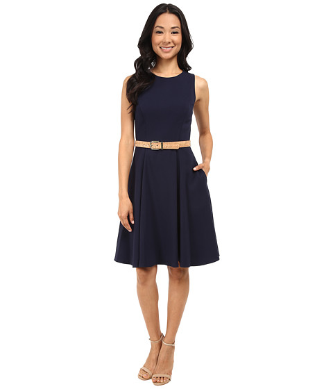 Eliza J - Sleeveless Fit and Flare (Navy) Women