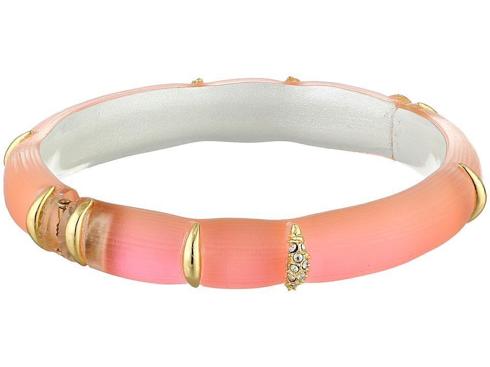 Alexis Bittar - Liquid Striped Hinge Bracelet (Flourescent Melon) Bracelet
