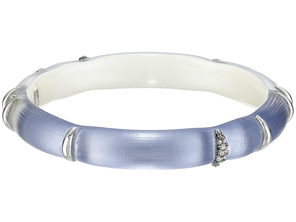 Alexis Bittar - Liquid Striped Hinge Bracelet (Light Navy) Bracelet