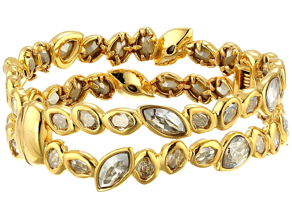 Alexis Bittar - Antique Set Crystal Stacking Hinge Bracelet (18k Gold) Bracelet