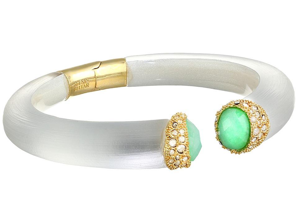 Alexis Bittar - Face To Face Pave Capped Hinge Bracelet (Silver) Bracelet