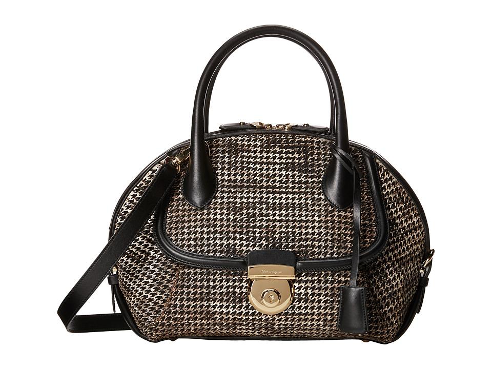Salvatore Ferragamo - 21F311 Fiamma (Roccia) Satchel Handbags